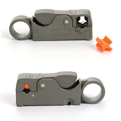 Universal Cable Stripper For RG-59 RG-6 RG-11 Coaxial Wire Coax Stripping Tool