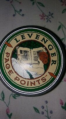 LEVENGER Page Points Nibs 27 Bronze Book Mark Pieces in Tin Storage Container