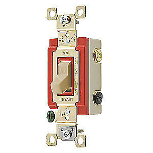 BRYANT Light Wall Switch,Clear,20A,3-Way Switch, 4903PLC120, Clear