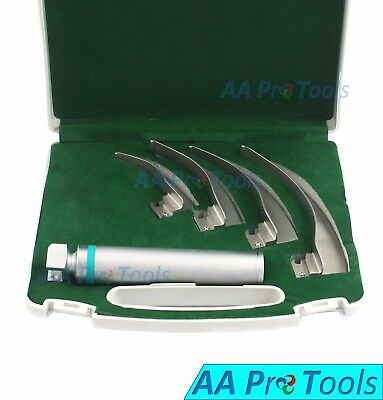 Macintosh Conventional Laryngoscope Set Bright & Whitest LED Illumination+1 Bulb