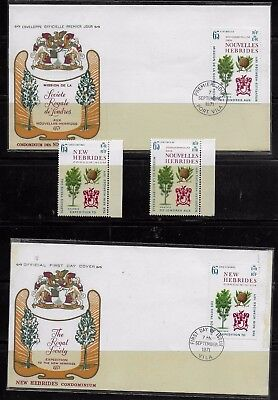 New Hebrides 1971 FDCs plus singles - The Royal Society Expedition  - MNH