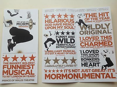 1 Flyer THE BOOK OF MORMON Prince Of Wales Theatre