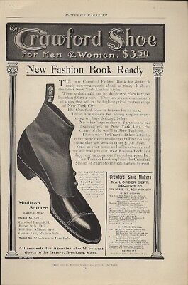 Crawford Shoe for Men and Women 1904 Vintage Ad