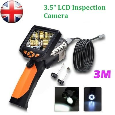 "3.5"" TFT Monitor HD Borescope Endoscopes Inspection Camera Zoom Rotate Video"