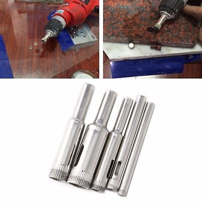 Hole Saw Drill Bits Set Tile Ceramic Cutter Glass Marble 5mm-12mm 5 Pcs Diamond
