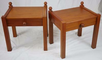 MODERN DANISH DESIGN - SET OF TEAK NIGHT STANDS/ BEDSIDE TABLES - Panton Era