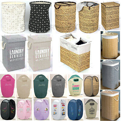 Laundry Diamante Washing Dirty Clothes Basket Bin Foldable Storage Bag Hamper