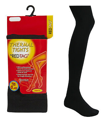 Girls Thermal Tights Warm Winter Heat Tog 0.45 Black 7 8 9 10 11 12 Years Bnwt