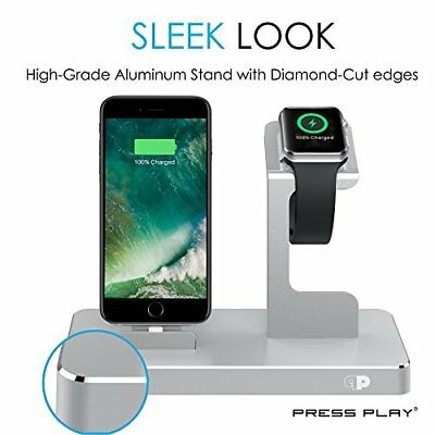 Power Station Dock Premium Apple Watch iPhone X Cable Management Aluminum Stand