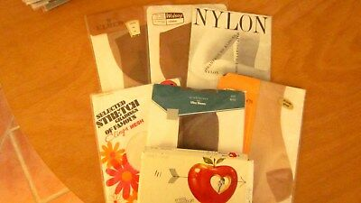 7x pairs vintage 1950,s /60,s stockings in original unopened wrappers.All sizes