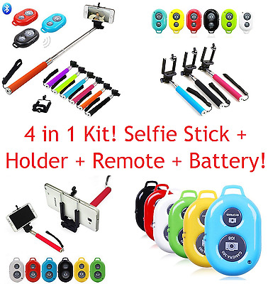 50 x SELFIE STICKS MONOPODS WITH REMOTES AND PHONE HOLDER JOB LOT WHOLESALE