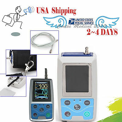 FOR USA Ambulatory Blood Pressure Monitor +USB Software 24h NIBP Holter ABPM50