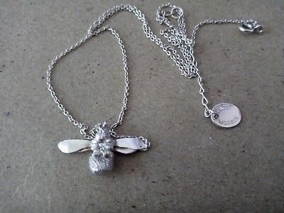 Alex Monroe Silver Mosquito Necklace AS IS