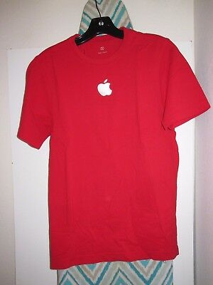 Apple Retail Staff Employee Uniform Red Short Sleeve Polo Shirt - S