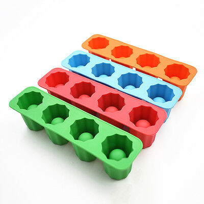 Shooters Ice Cube Shot Glass Freeze Mold Mould Maker Silicone Tray Party CupRDUJ