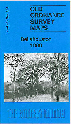 Old Ordnance Survey Map Bellahouston 1909 Glasgow Mosspark Hazelwood Craigton