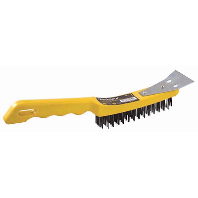 BLACKSPUR 4 Row Plastic Wire Brush with Scraper(TOP QUALITY PRODUCT)