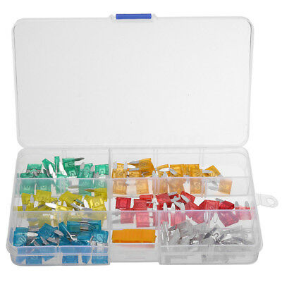 120pcs Mini Blade Fuse Assortment Set Auto Car Truck DG Motorcycle SUV Fuses Kit