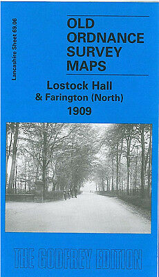 Old Ordnance Survey Map Lostock Hall Farington North 1909 Tardy Gate Fowler Lane