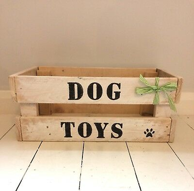 Wooden Dog Toy Box/crate