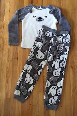 Justice Polar Bear Fleece Pajamas Set 14