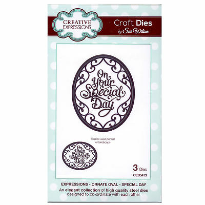 Craft Dies ced5413 Sue Wilson Expressions Kollektion - Ornament oval - Besondere