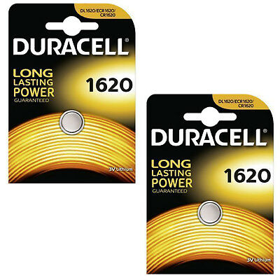 2 Packs Duracell CR1620 3V Lithium Button Coin Cell Battery 1620 DL1620 BR1620