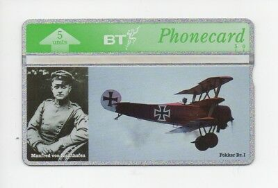 BT Phonecard BTG294, Knights of the Air (1), The Red Baron, mint unused