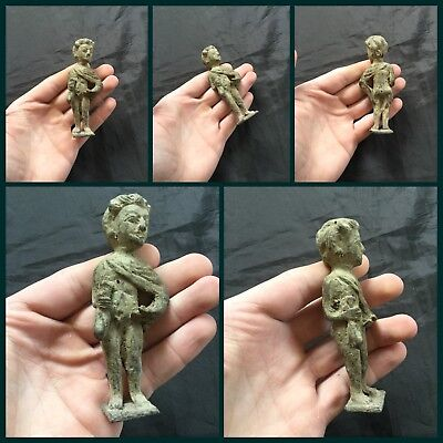 Superb  Rare Ancient Bronze Gandharan Figure Of Male 4th /5th Cent BC