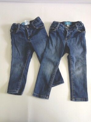 Lot of 2 Old Navy BABY GIRLS Skinny Jeans 18-24M and 2T. Free Shipping