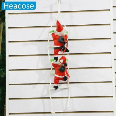 2017 cute 25cm Christmas Santa Claus doll christmas tree decorations with stairn