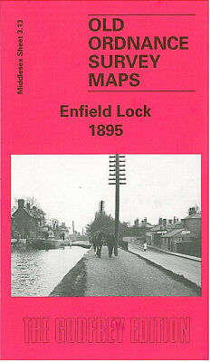 Old Ordnance Survey Map Enfield Lock 1895 Quinton Hill Ordnance Road
