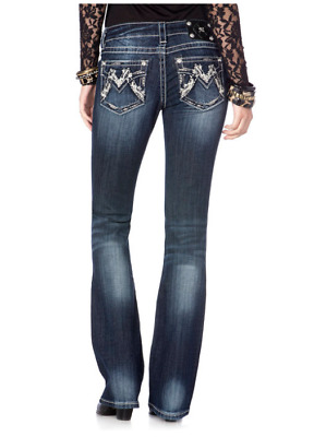 New Miss me SHIMMERING M BOOT CUT JEANS