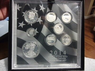 2014  LIMITED EDITION SILVER PROOF SET  Complete w/ Original Box & COA Toning***