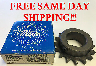 Martin 40BS16 1 1/4 Bored to Size Sprocket, NEW! Item: 742393-B4