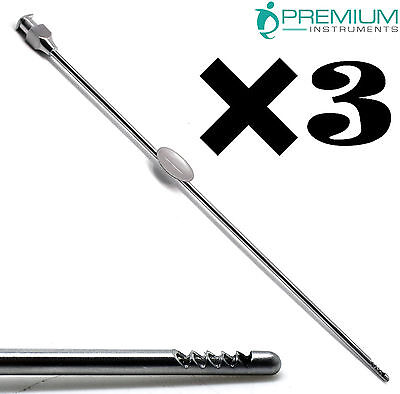 "3× Surgical NOVAK Endometrial Suction Biopsy Curette 2mm Gynecology 9.2"" Tools"