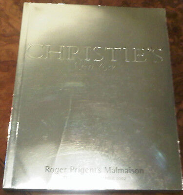 Christie's New York November 26 2002 Catalog Roger Prigent's Malmasion 299 Pages
