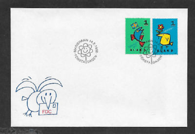 Aland First Day Cover - 1996 - Greetings - Congratulations - 2 Different Stamps