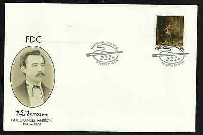 Aland First Day Cover - 1996 - Karl Emanuel Jansson