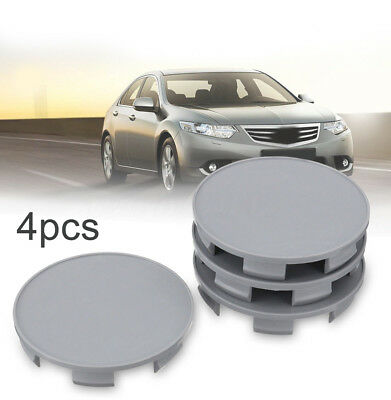 4x 69/66mm Auto Car Wheel Center Hub Cover Cap Gray For Honda Pilot Accord Civic