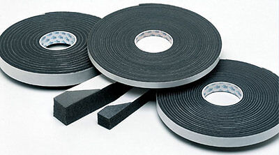 10x10mm, 2M Self Adhesive Foam Sealing Tape Strip, Draught Excluder, EPDM Rubber