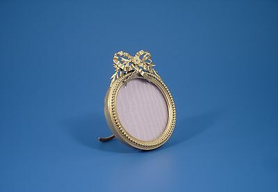 Antique French Bronze Round Little Picture Frame