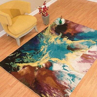 Contemporary Abstract Multi Color Area Rug Free Shipping