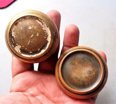 Pair of Antique Vintage Brass Door Knobs Architectural Salvage