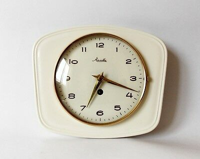 Vintage Art Deco style 1960s Ceramic Kitchen Wall clock MAUTHE Made in Germany ,