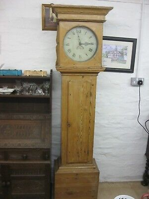 Antique Solid Pine Ornate Longcase Clock Early 18Th Century Delivery Pos