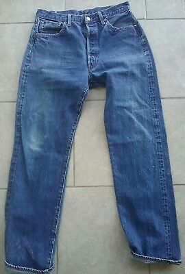 LEVIS 501 JEANS SINGLE STITCH  BIG E RED LINE  31 x 32