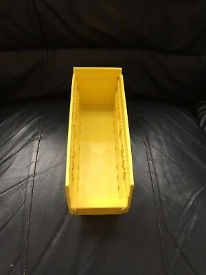 Akro-Mils Shelf Bin, 11-5/8 In. L,4-1/8 In. W,4 In H, 30120Yellow