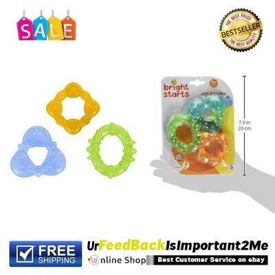 Baby Chill And Teeth Water Filled Teething Rings Refrigerate For Added Relief