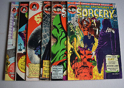 Chilling Adventures in SORCERY   Lot of 6 Mixed   '72  Series  VG//Better
